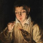 El Greco, Boy Blowing on an Ember, 1571–72