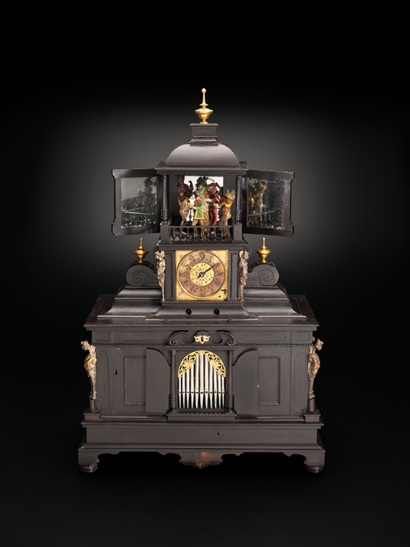 Veit Langenbucher and Samuel Bidermann, Musical Clock with Spinet and Organ, circa 1625