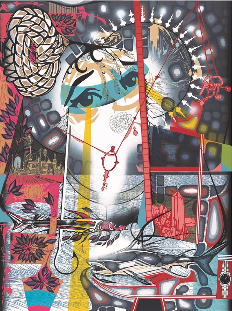 Lari Pittman, Untitled #4, 2003