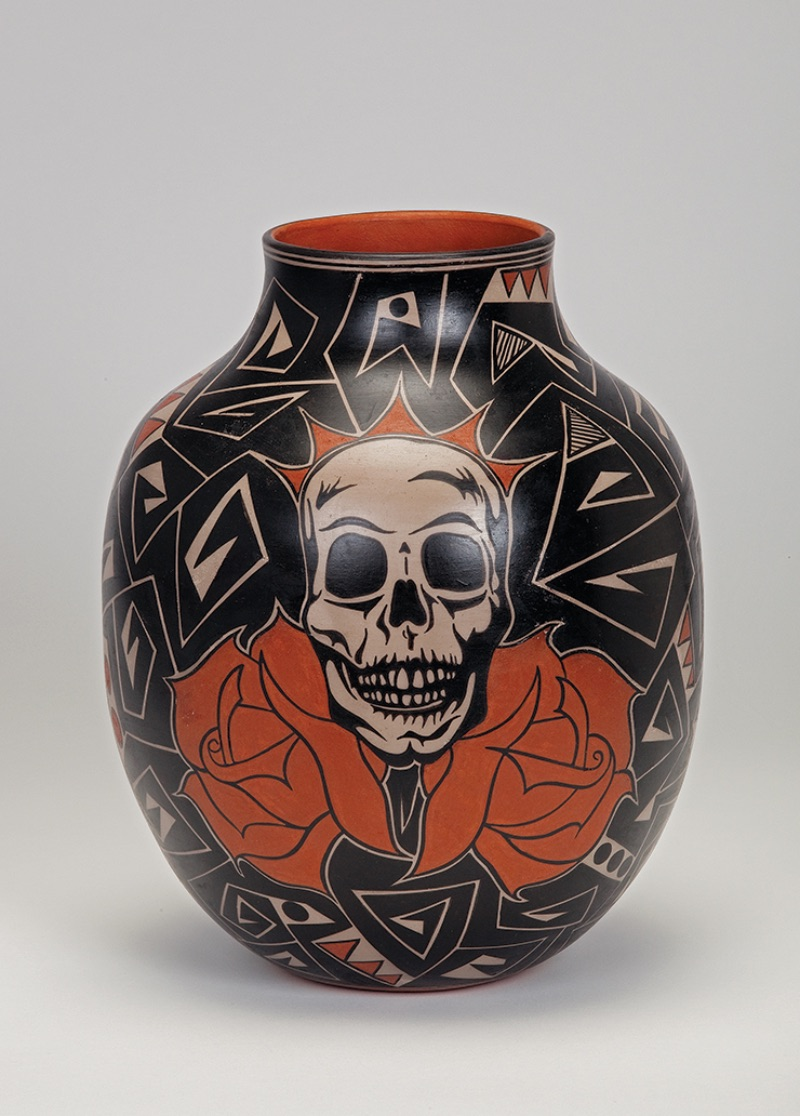 Lisa Holt (Cochiti) and Harlan Reano (Kewa/Santo Domingo), Skull Jar, 2012