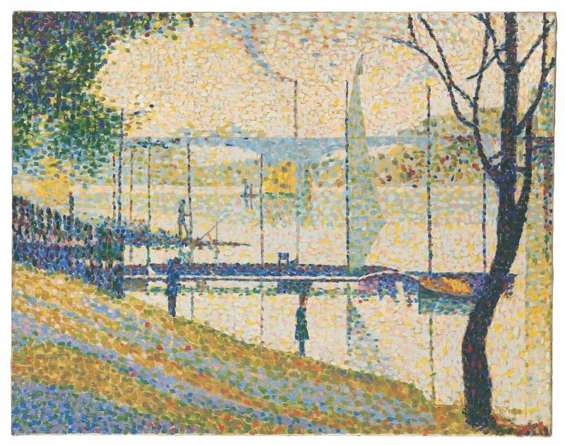 Bridget Riley, Copy after 'Le Pont de Courbevoie' by Georges Seurat, 1959