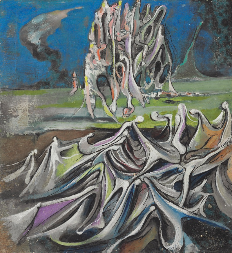 Wolfgang Paalen, Paysage Totemique (Totemic Landscape), 1937