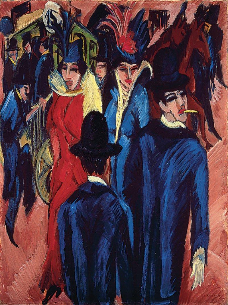 Ernst Ludwig Kirchner, Berlin Street Scene, 1913-14