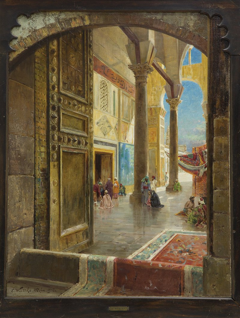 Carl Wuttke, The Great Umayyad Mosque, Damascus, 1913
