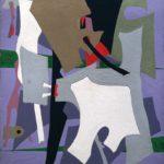 Esphyr Slobodkina, Composition in Violets, circa 1940s