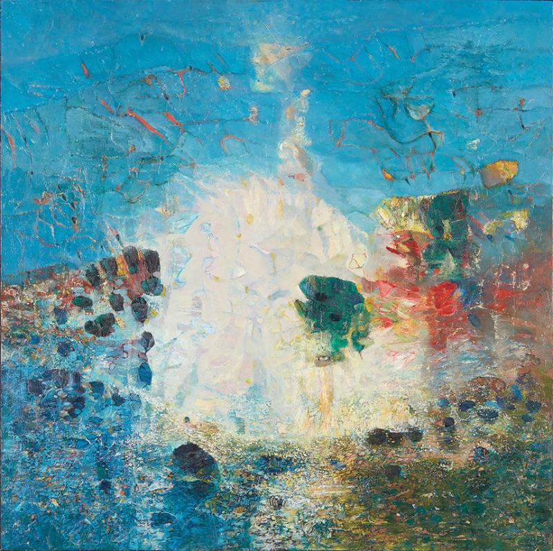 Abdallah Benanteur (Algeria), To Monet, Giverny, 1983