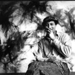 Norman Bluhm in his studio