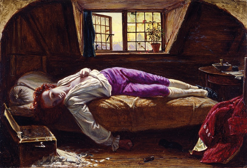 Henry Wallis, Chatterton (The Death of Chatterton), 1855–56