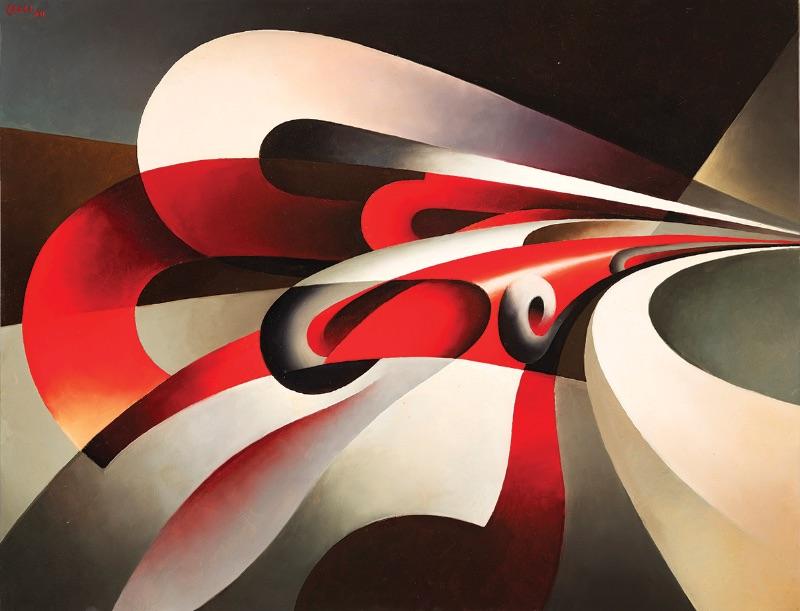 Tullio Crali, The Forces of the Bend (Le forze della curva), 1930