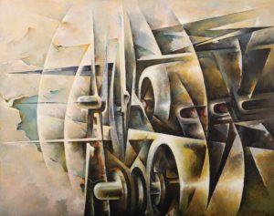 Tullio Crali, Assault of Motors (Assalto di motori), 1968