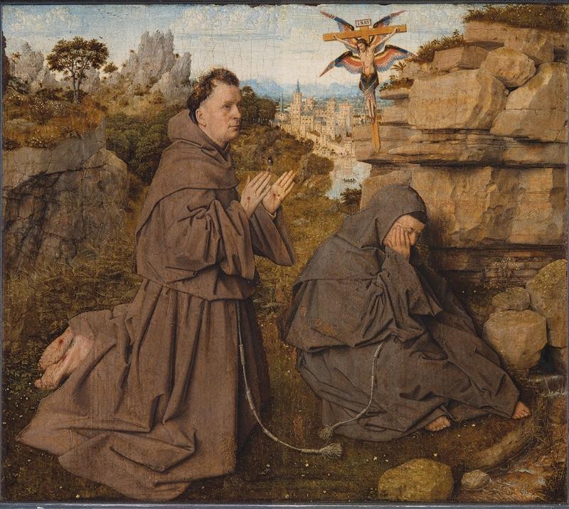 Jan van Eyck, Saint Francis of Assisi Receiving the Stigmata, 1440