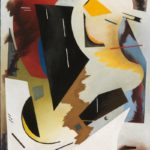Alice Trumbull Mason, Colorstructive Abstraction (white, black, red, blue, & yellow), 1944
