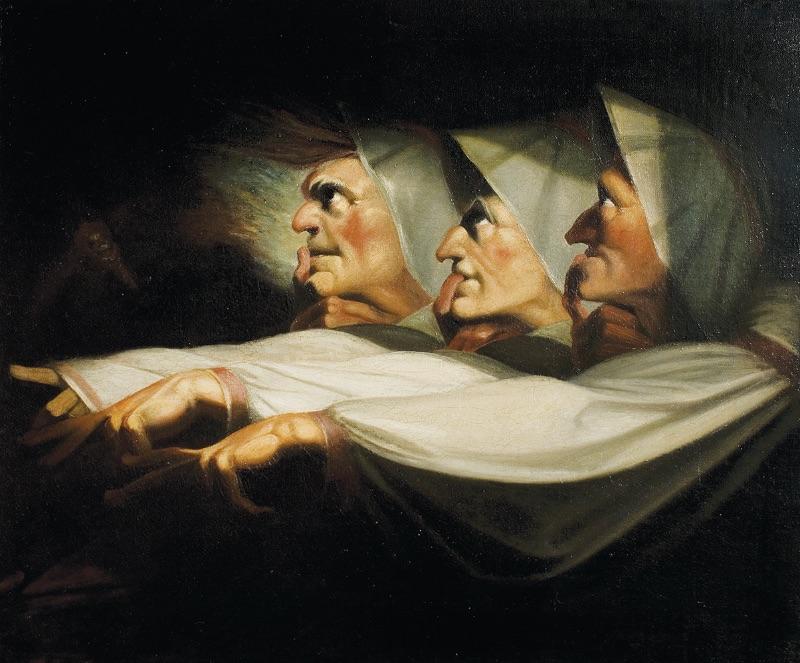 Henry Fuseli, The Weird Sisters, Macbeth, c.1783.