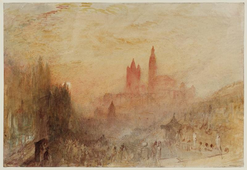 J.M.W. Turner, Lausanne: Sunset, 1841–42