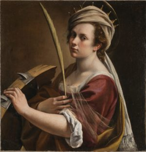 Artemisia Gentileschi, Self Portrait as Saint Catherine of Alexandria, about 1615-17