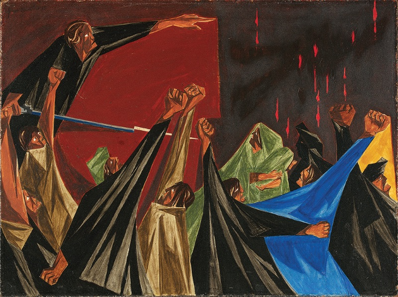 Jacob Lawrence, ... is life so dear or peace so sweet as to be purchased at the price of chains and slavery? —Patrick Henry, 1775, Panel 1, 1955