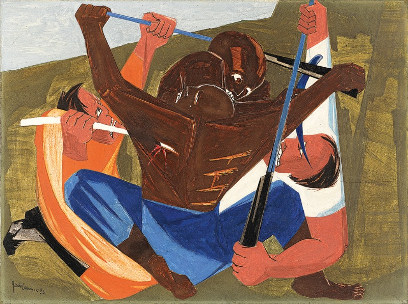 Jacob Lawrence, ... for freedom we want and will have, for we have served this cruel land long enuff ... —a Georgia slave, 1810, Panel 27, 1956
