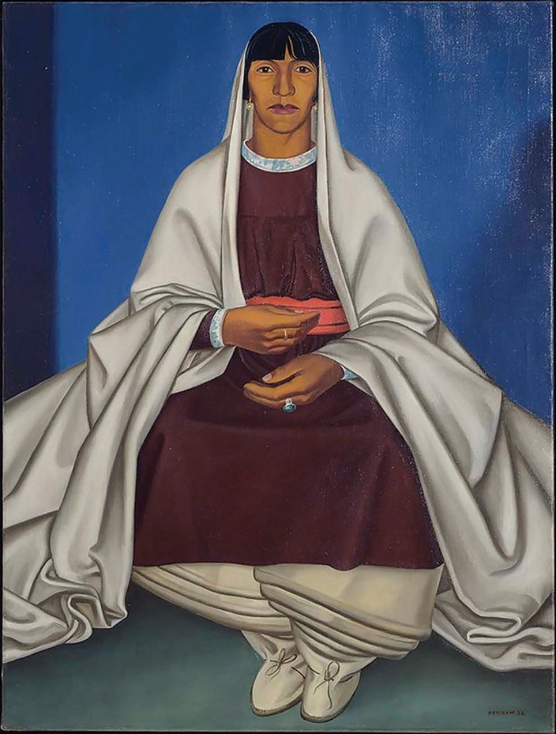 Emil Bisttram, Indian Woman, 1932