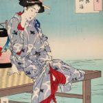 Tsukioka Yoshitoshi , Cooling off at Shijo, 1885