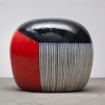 Jun Kaneko, Untitled, 2012, glazed ceramics, 39.5 x 46 x 34.5 inches.